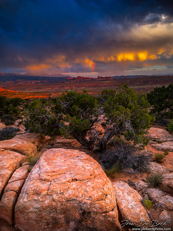 A Sunset Storm In Arches