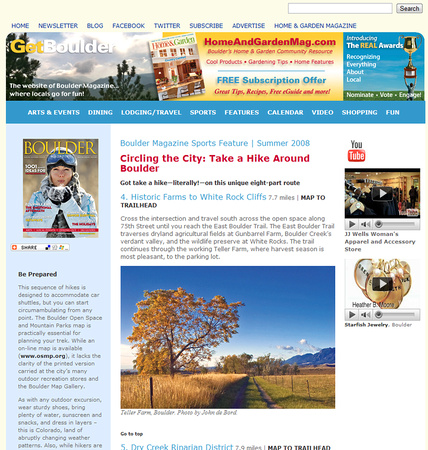 Boulder Magazine Website