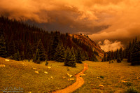 Sunset Storms Over Ute Trail